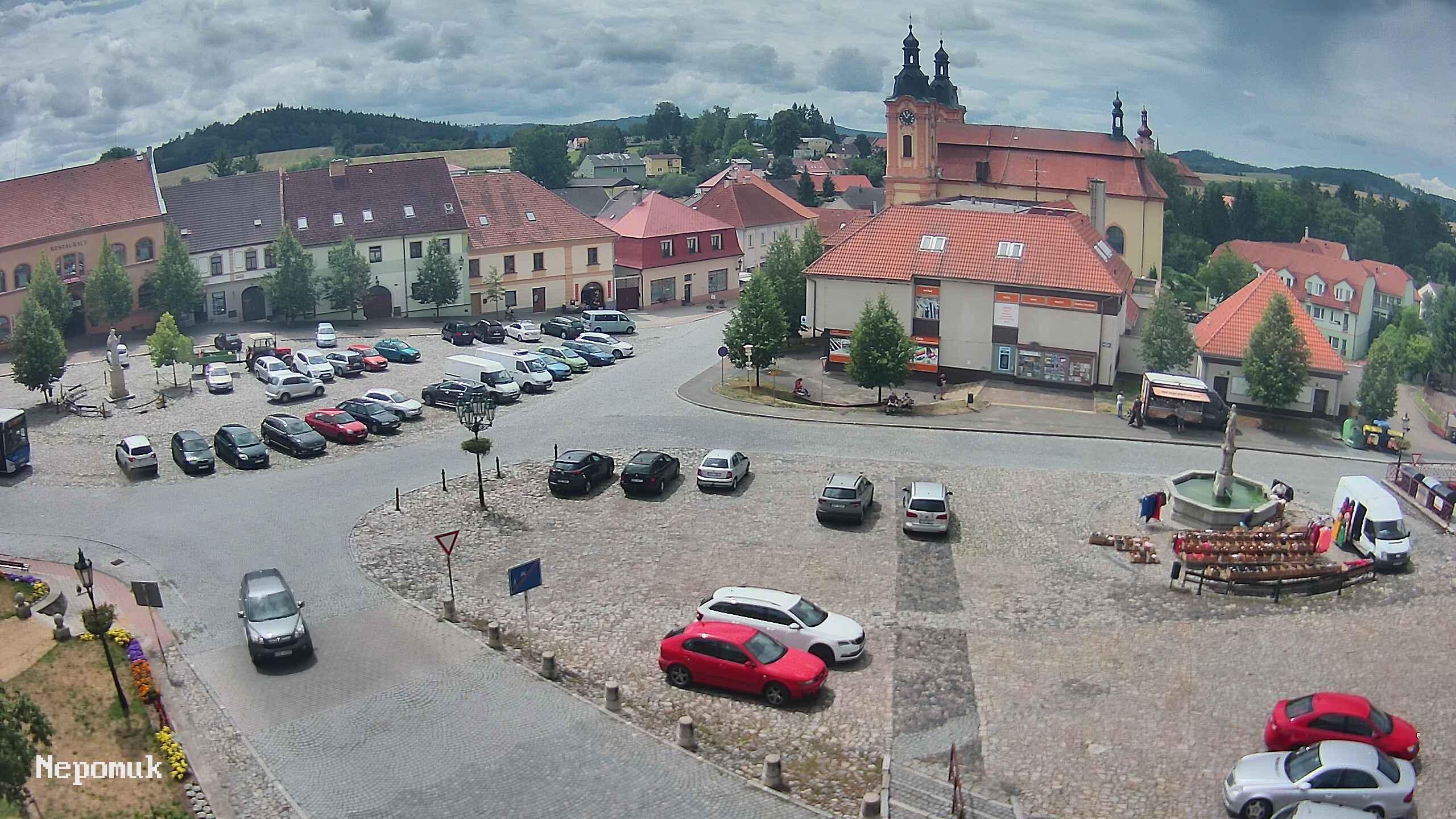 Webkamera města Nepomuk - pohled na náměstí Augustina Němejce